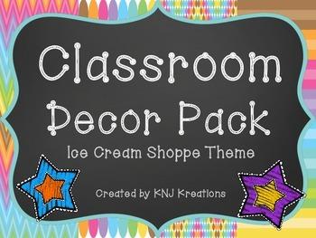 Classroom Theme: Ice Cream Shoppe