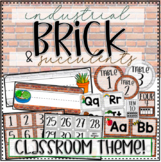 Classroom Theme: Industrial Brick & Succulents - Back to School