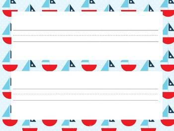 Classroom Decor Kit: Nautical Theme Printables