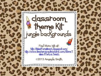 Classroom Decor Kit: Safari Theme Printables