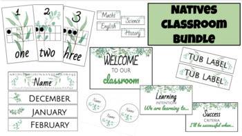 Classroom Theme | Natives | Back to School Bundle