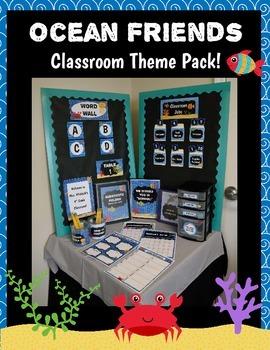 Classroom Theme Pack: Ocean Friends (editable)