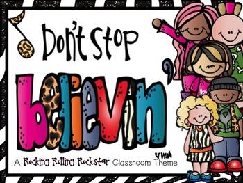 Classroom Theme: Rocking Rolling Rockstars!