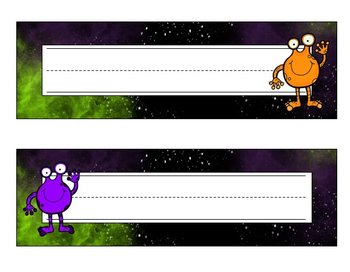 Space Alien Invasion - Purple & Green {Classroom Theme}
