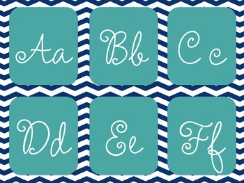 Classroom Theme- Teal and Navy Chevron!