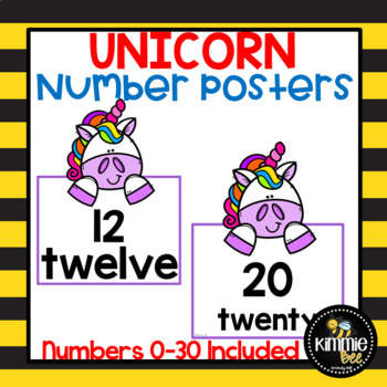 Unicorn 1-30 Number Posters
