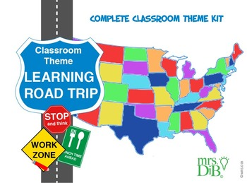 """Classroom Theme and Original Artwork """"Let's go on a learning trip!"""""""