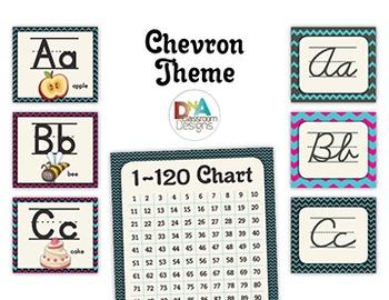 Classroom Themed Décor Bundle-Chevron