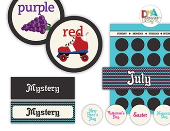 Classroom Themed Décor Bundle-Chevron