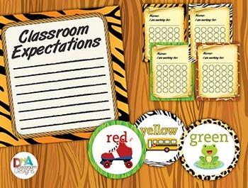 Classroom Themed Décor Bundle-Safari and Jungle