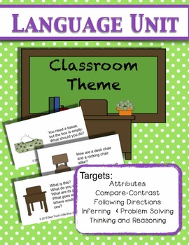 Language Unit: Classroom Themed for Vocabulary and Thinking/Reasoning