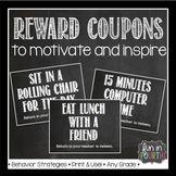 Editable Motivational Reward Coupons Chalkboard Themed