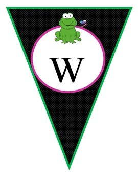 Classroom Themes- Frog Pennant