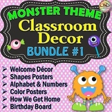 MONSTERS Classroom Theme BUNDLE 1 Classroom Decor and Reference Displays