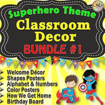 Superhero Classroom Theme BUNDLE 1