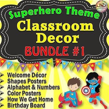 Superhero Classroom Theme BUNDLE 1