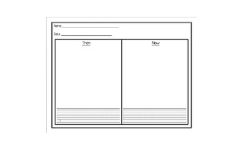Classroom Then and Now Worksheet