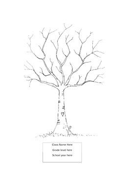 Classroom Thumbprints of Children Tree