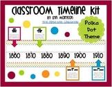 Classroom Timeline Kit- Polka Dot Theme