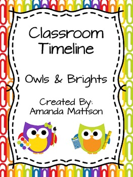 Classroom Timeline {Owls and Brights}