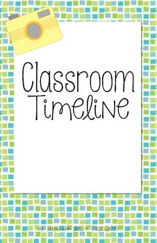 Classroom Timeline - Pictures Throughout the School Year