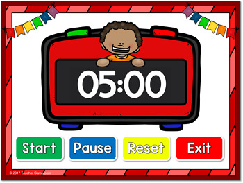 classroom timer 5 minutes by teacher gameroom tpt