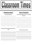 Classroom Times Back To School Activity