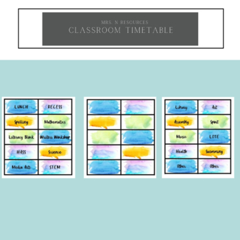 Classroom Timetable