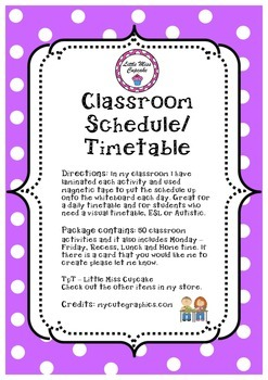 Classroom Timetable Schedule