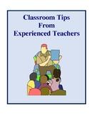 Classroom Tips From Experienced Teachers