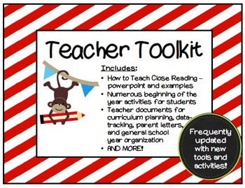 The Organized Teacher's ToolKit : Calendars, Checklists, Record Logs and more!