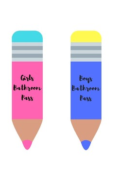 Classroom Tools: Schedule cards, Bathroom Pass, Drink pass