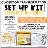 Classroom Transformation Kit: Construction Theme   Digital Slides