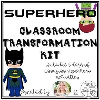 Classroom Transformation Kit: Superhero Theme
