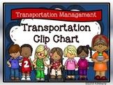 Transportation Clip Chart-Includes: Bus/Car Rider, Walker,