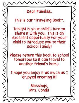 Classroom Traveling Book Freebie