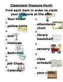 Classroom Treasure Hunt
