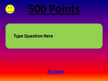 Classroom Trivia Star PowerPoint Game Template