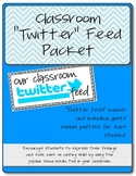"Classroom ""Twitter Feed"" Bulletin Board Set"