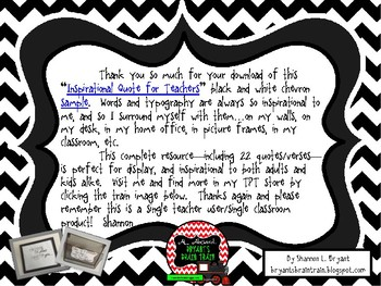 Classroom Typography for Teachers (Black and White Chevron Sample)