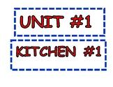 Classroom Unit/Kitchen signage
