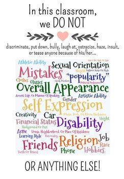 Classroom Poster - Tolerance