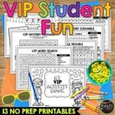 Classroom VIP Activity Book No Prep Worksheet Packet