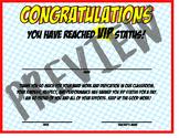 Classroom VIP Certificate (Superhero/Comic Book Themed)