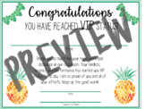 Classroom VIP Status Certificate (Pineapple Theme)