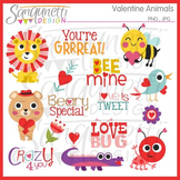 Valentine Animals Clipart Commercial Use Included