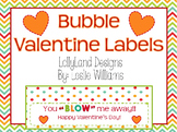 Classroom Valentine Gift Labels-Bubbles