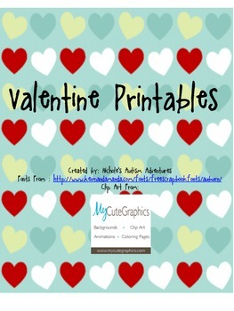 Classroom Valentine Printable by Nichole's Autism Classroo