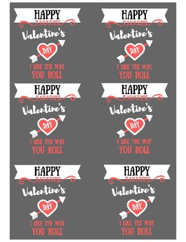 Classroom Valentine's Day Labels