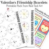 Classroom Valentine's Friendship Bracelets - Templates, Wo
